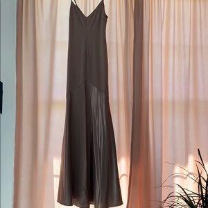 LULUS Dark Blush Silk Dress